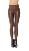 Spanx - High Waist Bronze Faux Leather Legging (2437, Bronze)