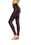 Spanx - Faux Leather Leggings (2437, Wine)