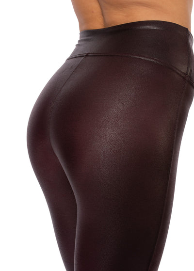 Spanx - Faux Leather Leggings (2437, Wine) alt view 2
