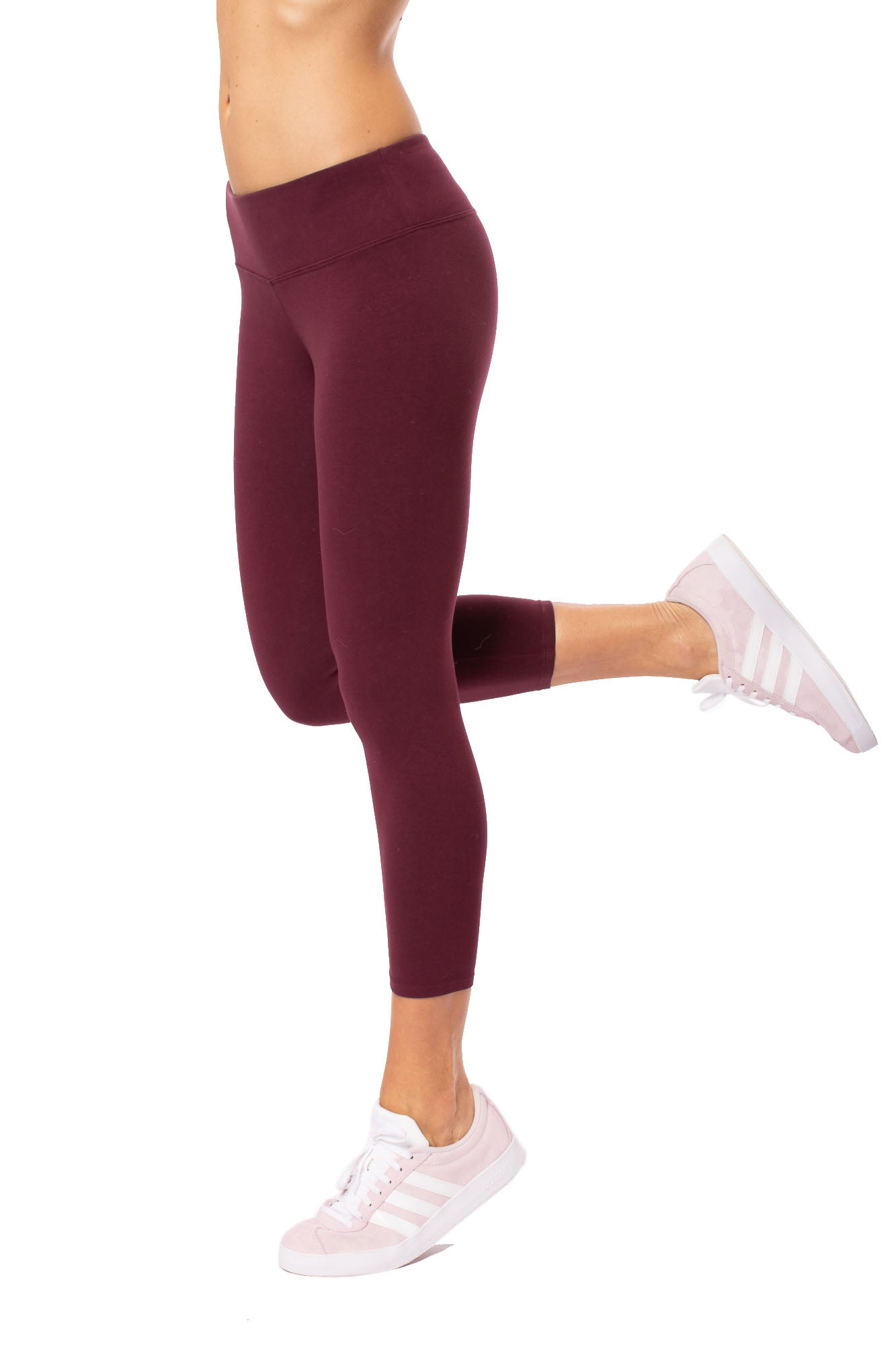 Flat Waist Capri (Style W-374, Fig) by Hard Tail Forever