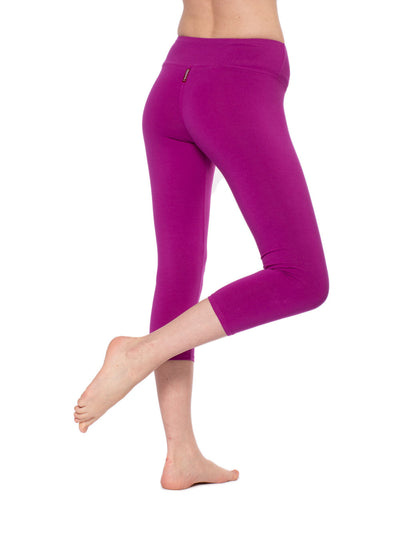 Flat Waist Capri (Style W-374, Berry) by Hard Tail Forever alt view 1