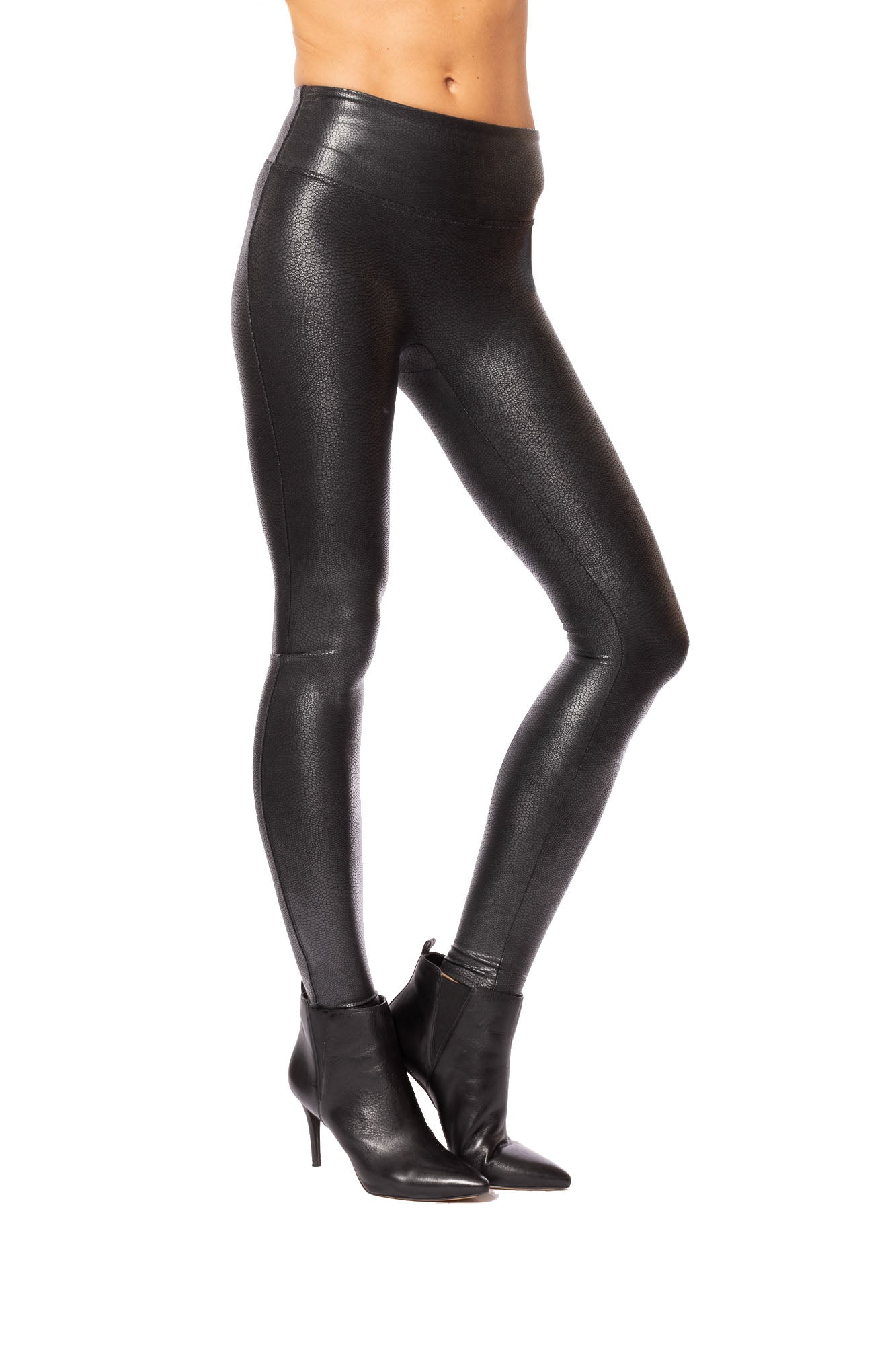 Spanx - Faux Leather Croc Leggings (20186R, Black)