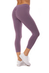 Hard Tail Forever - Flat Waist Capri (W-374, Grape Vine) alt view 2