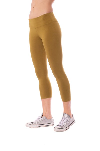 Flat Waist Capri (Style W-374, Cricket) by Hard Tail Forever