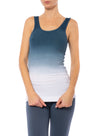 Hard Tail Forever - Skinny Rayon Ribbed Tank (RR-19, Ombre OMW6)