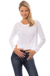 Bobi - Long Sleeve Crop Crew (579-26187, White)