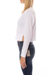 Bobi - Long Sleeve Crop Crew (579-26187, White) alt view 1