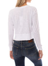 Bobi - Long Sleeve Crop Crew (579-26187, White) alt view 2