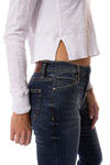 Bobi - Long Sleeve Crop Crew (579-26187, White) alt view 4