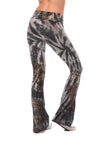 Hard Tail Forever - Contour Roll Down Boho Bell Bottom Flare Pant (W-598, Tie-Dye TTS2) alt view 3