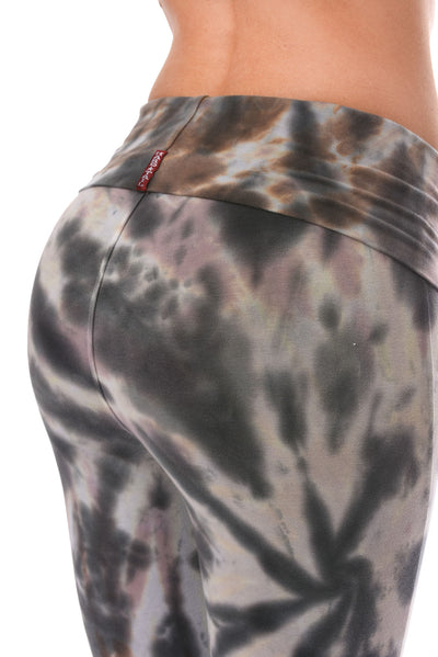 Hard Tail Forever - Contour Roll Down Boho Bell Bottom Flare Pant (W-598, Tie-Dye TTS2) alt view 4