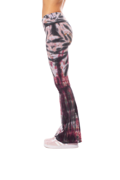 Hard Tail Forever - Contour Roll Down Boho Bell Bottom Flare Pant (W-598, Tie-Dye TTS1) alt view 3