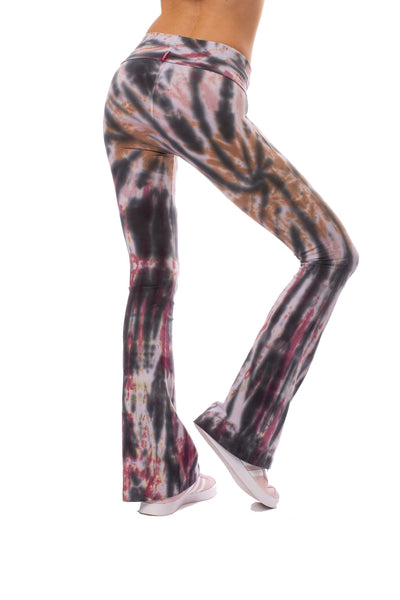Hard Tail Forever - Contour Roll Down Boho Bell Bottom Flare Pant (W-598, Tie-Dye TTS1) alt view 4