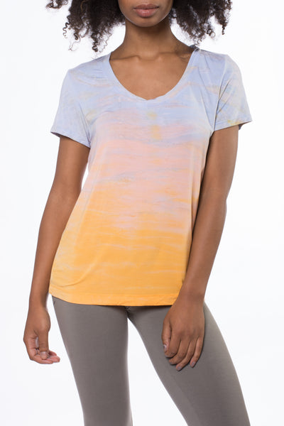 Basic Scoop T (Style SIR-53, Tie-Dye RH61) by Hard Tail Forever
