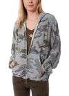 Bemberg Zip Up Camo Hoodie (Style BEM-26, Blue/Silver Camo) by Hard Tail Forever