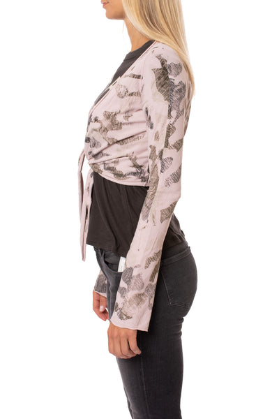 Hard Tail Forever - Crop Bell Sleeve (SL-12, Camo Rose) alt view 1