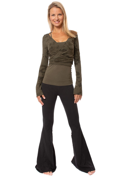 Hard Tail Forever - Crop Bell Sleeve (SL-12, Camo Olive) alt view 5