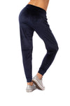 Bobi - Drawstring Pocketed Plush Jogger (549-29602, Midnight Blue) alt view 2