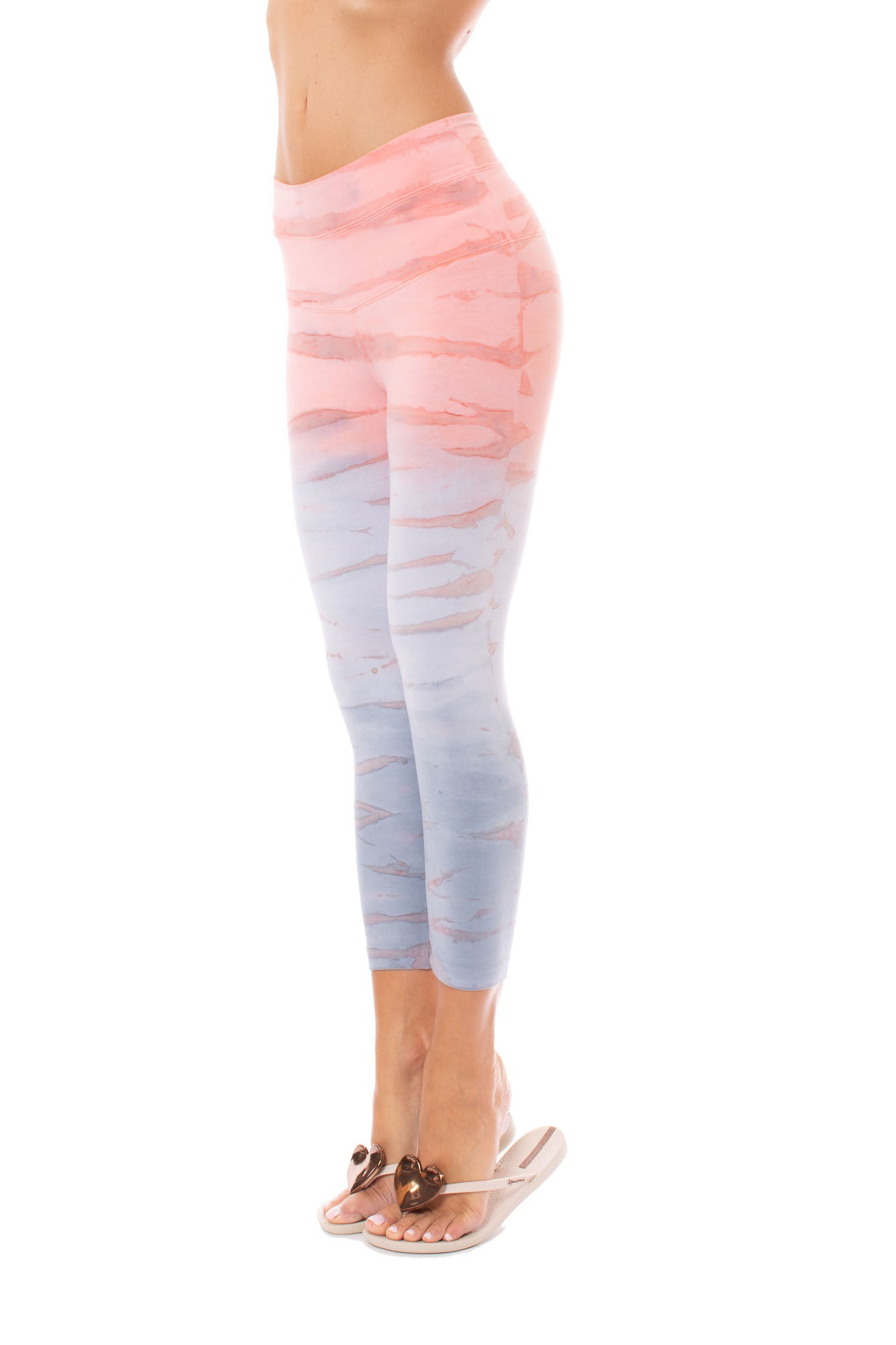 Hard Tail Forever - High Rise Capri Legging (W-614, Tie-Dye RH87)