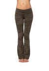 Contour Roll Down Boho Bell Bottom Pant (Style W-598, Olive Camo) by Hard Tail Forever