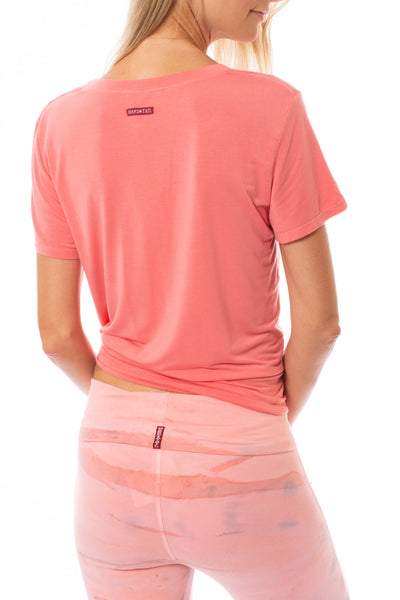 Hard Tail Forever - Basic Scoop Tee (SIR-53, Coral) alt view 2