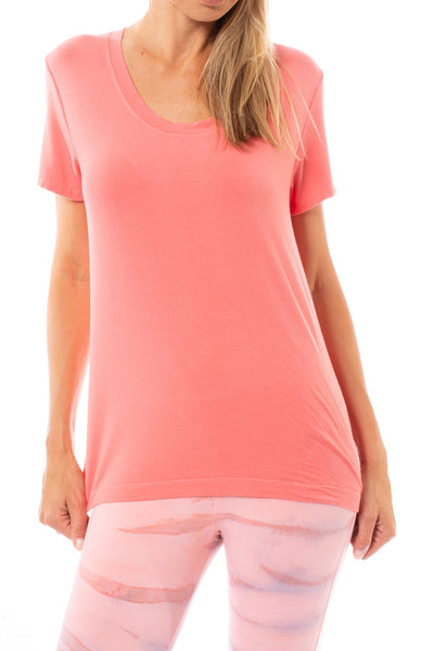 Hard Tail Forever - Basic Scoop Tee (SIR-53, Coral) alt view 5