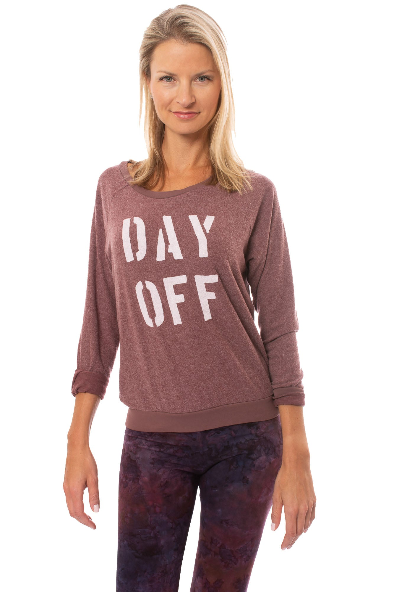 Sol Angeles - Day Off Pull Over Sweatshirt (RW19-1116, Wine)