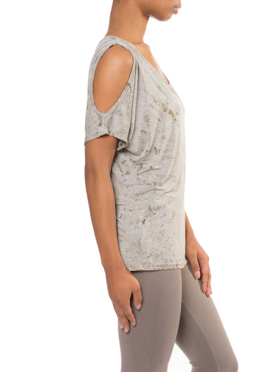 Open Shoulder Tee (Style HVIS-07, Tie-Dye SMA1) by Hard Tail Forever alt view 1