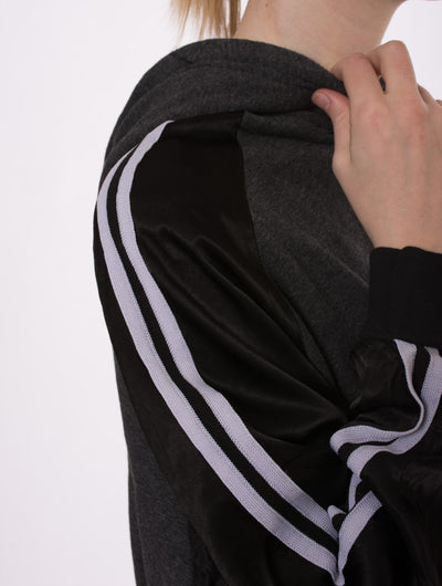 Racing Stripe Crop Hoodie (Style RICH-14, Black) by Hard Tail Forever alt view 5
