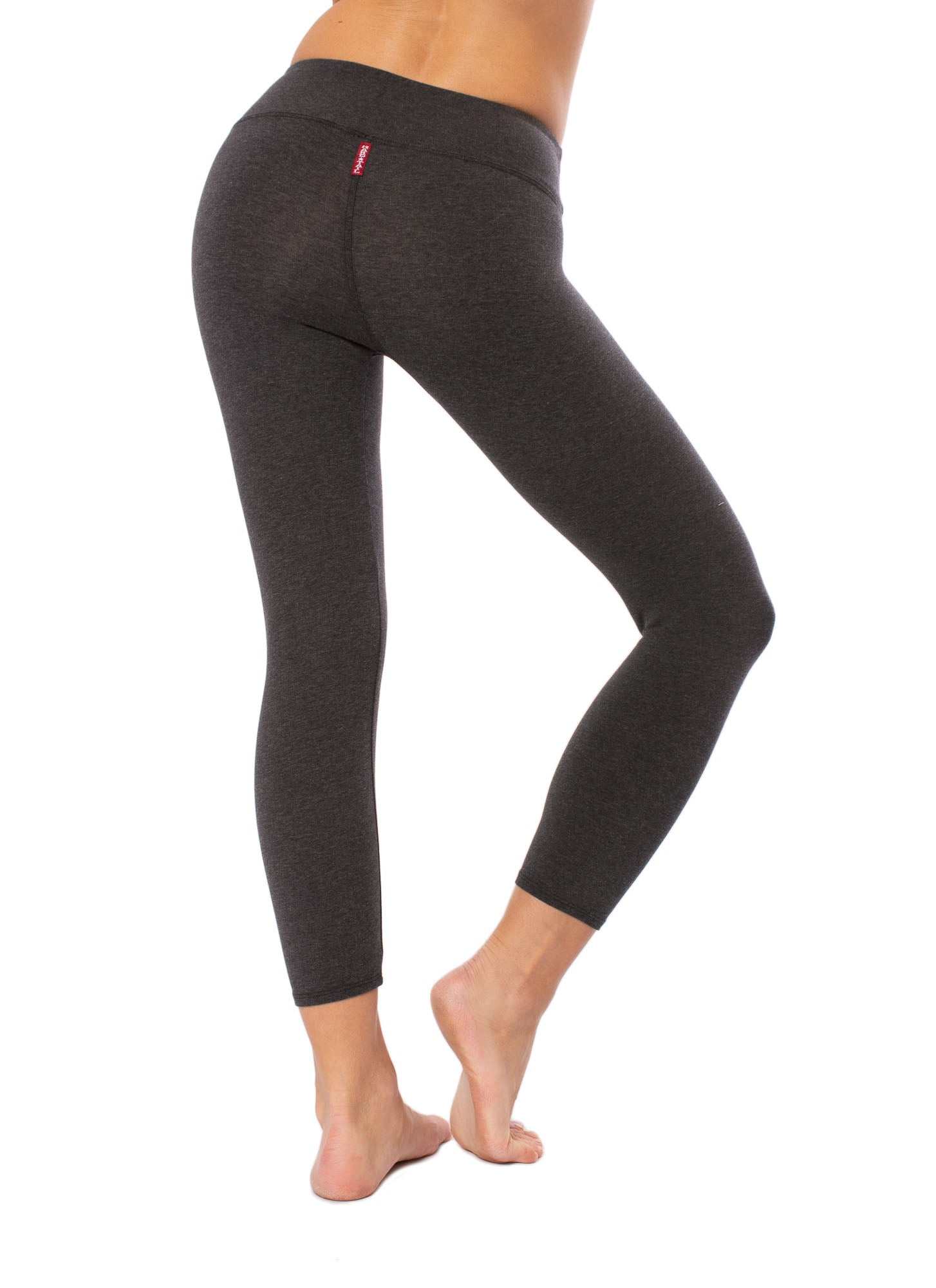 Flat Waist Capri (Style W-374, Dark Charcoal) by Hard Tail Forever