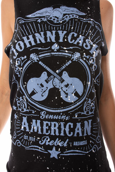 Sojara - Johnny Cash Painted Tank (TNK PAINT J CASH, Black & Blue) alt view 4