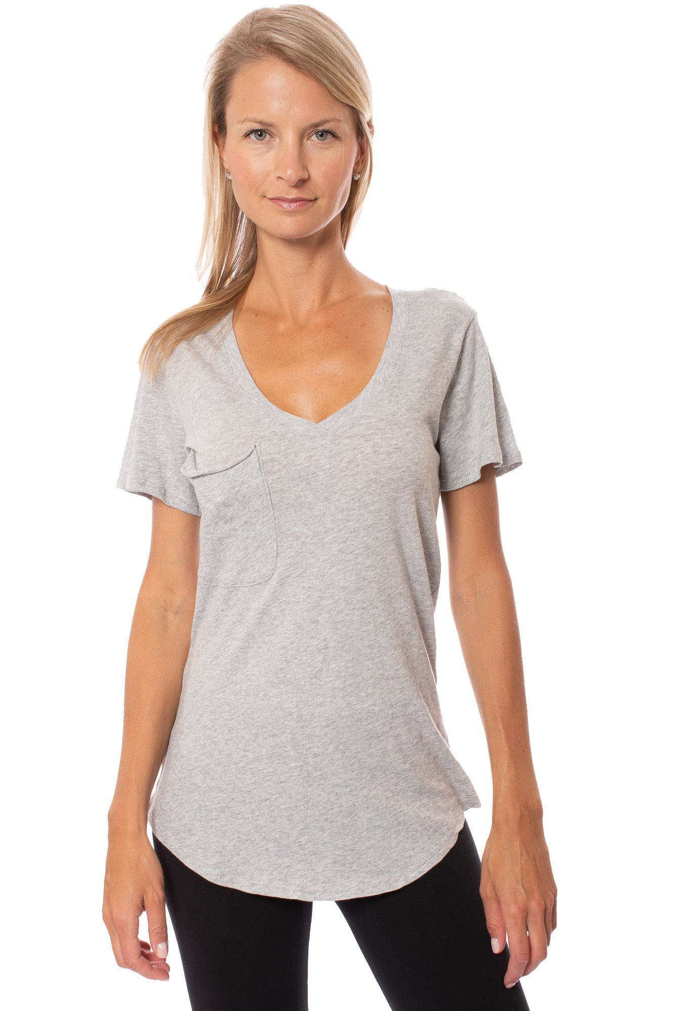 Bobi - Boyfriend Tee (539-07062, Heather Gray)