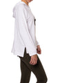 Cloud Fleece Slouchy Sweatshirt W/Black Star (Style CLO-04-501, White w/Black Star) by Hard Tail Forever alt view 1