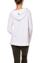 Cloud Fleece Slouchy Sweatshirt W/Black Star (Style CLO-04-501, White w/Black Star) by Hard Tail Forever alt view 2