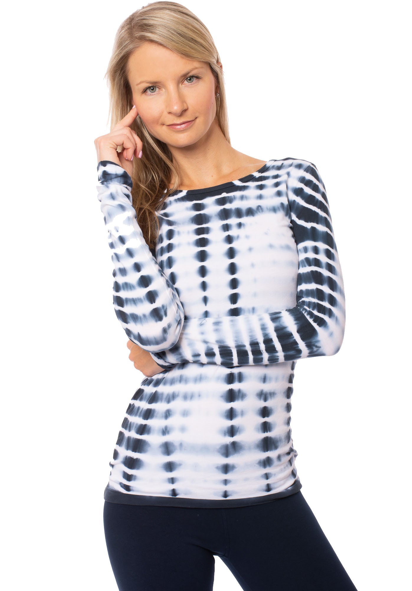 Hard Tail Forever - Supima/Lycra Long Sleeve Scoop Tee  (SL-69, Tie-Dye ELEC2)