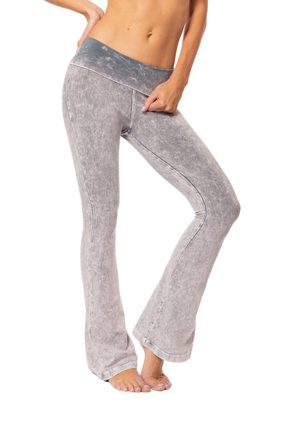 Hard Tail Forever - Contour Roll Down Boho Bell Bottom Flare Pant (W-598, Tie-Dye MW11)