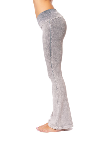 Hard Tail Forever - Contour Roll Down Boho Bell Bottom Flare Pant (W-598, Tie-Dye MW11) alt view 2