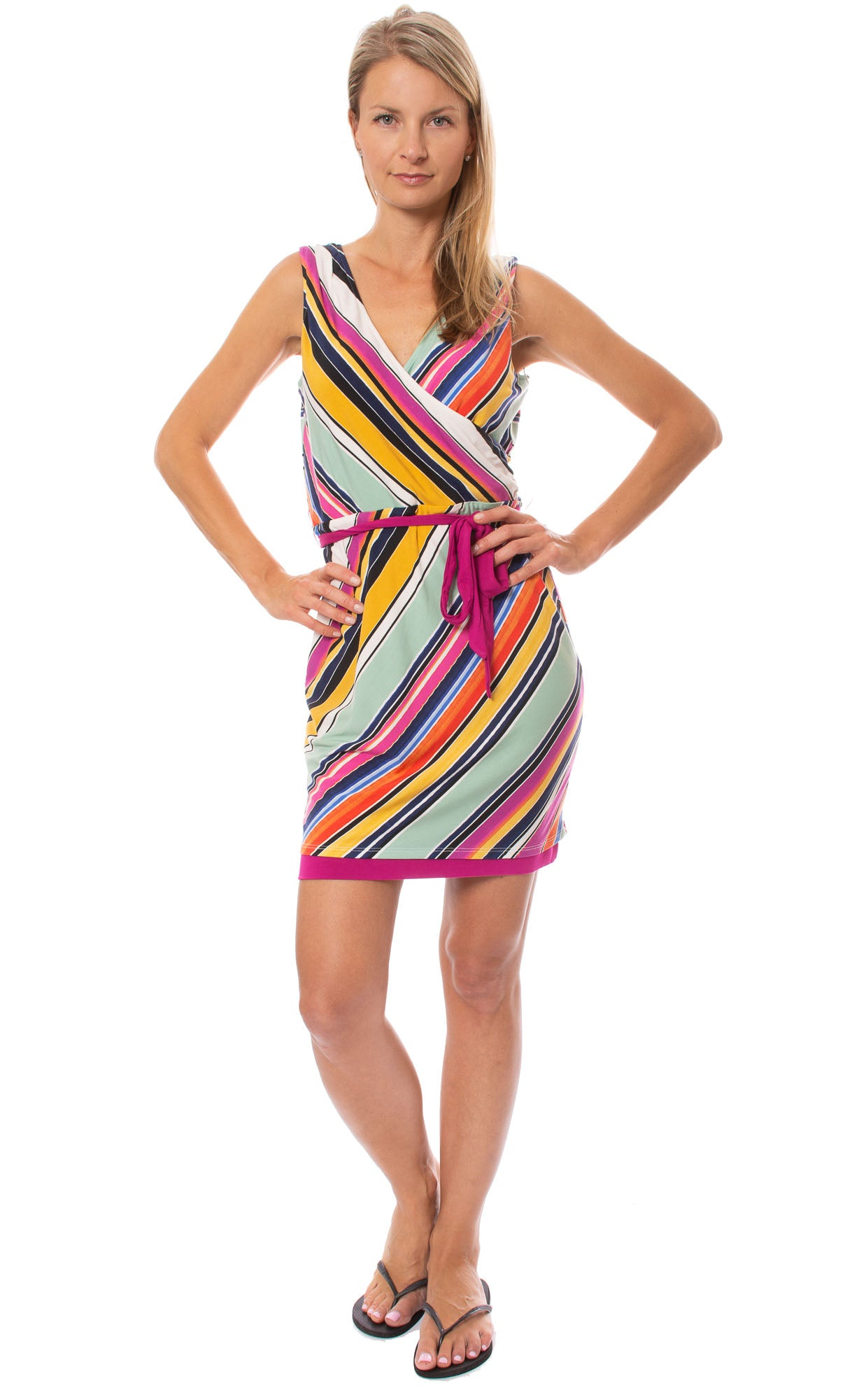 Tart Collections - Reversible Phaux Wrap Mariana Dress (T11126, Multi)
