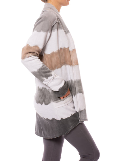 Hard Tail Forever - Slouchy Cardigan (SHE-02, Tie-Dye Heather & AND4) alt view 1