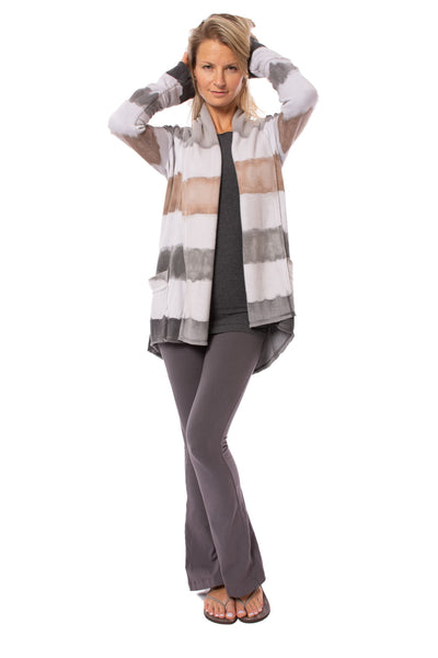 Hard Tail Forever - Slouchy Cardigan (SHE-02, Tie-Dye Heather & AND4) alt view 8