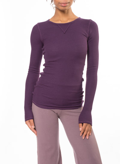Long Sleeve Thermal Vintage Tee (Style TH-28, Concord Grape) by Hard Tail Forever