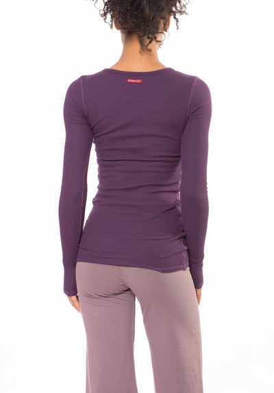 Long Sleeve Thermal Vintage Tee (Style TH-28, Concord Grape) by Hard Tail Forever alt view 2