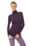 Hard Tail Forever - Thermal Long Sleeve Turtle Neck (TH-35, Deep Purple)