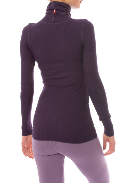 Hard Tail Forever - Thermal Long Sleeve Turtle Neck (TH-35, Deep Purple) alt view 2