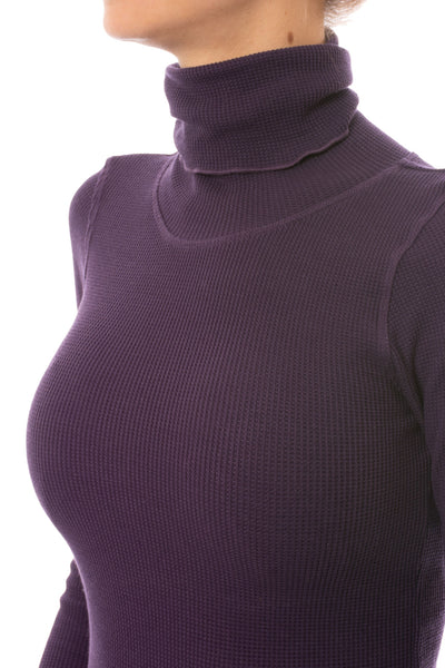 Hard Tail Forever - Thermal Long Sleeve Turtle Neck (TH-35, Deep Purple) alt view 5