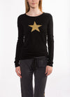 Supima/Lycra Long Sleeve Scoop Tee (Style SL-69, Gold Star \ Black) by Hard Tail Forever