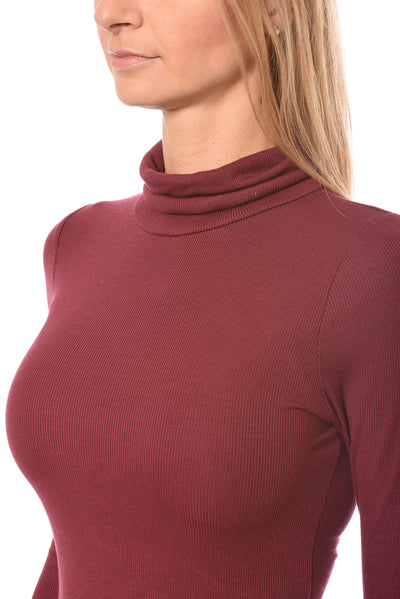 LA Made - Britt Turtle Neck (S21009, Wild Berry) alt view 5