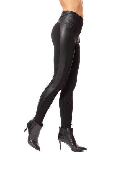 Lysse - Kent Legging W/Side Faux Leather (2309, Black)