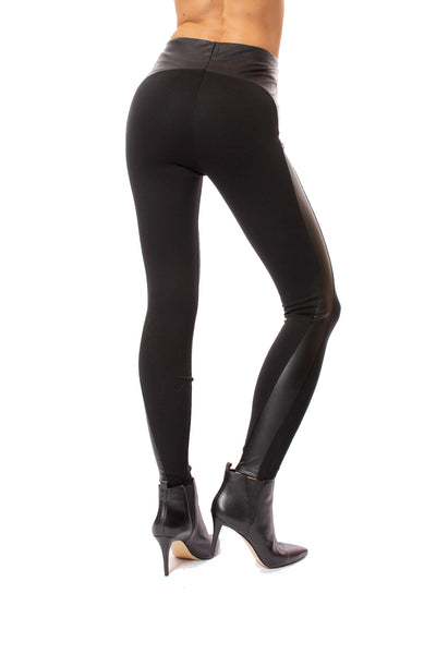 Lysse - Kent Legging W/Side Faux Leather (2309, Black) alt view 2