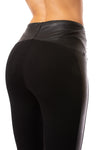 Lysse - Kent Legging W/Side Faux Leather (2309, Black) alt view 3